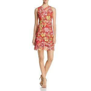Tahari Lincoln Lace Floral Print Dress